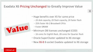 No Price Change for the Oracle Exadata X6